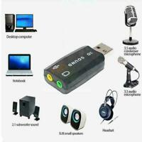 Stereo Headset 5.1 USB To 3.5mm Headphone Jack 3D Mic Card Au Adapter T3O9 S5S4