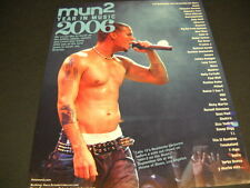 CALLE 13 RESIDENTE on stage in L.A. 2006 PROMO DISPLAY AD mint condition