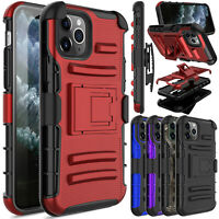 For iPhone 11/12 Pro/Max/Pro Max Case Shockproof Belt Phone Cover With Kickstand