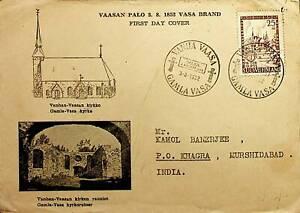 FINLAND 1952 VANHAN VASSAN PALO FDC TO INDIA RARE DEST