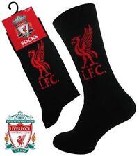 Liverpool FC Official Football 1 Pair Mens Dress Socks Black Gift Size 6 - 11