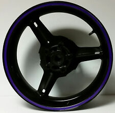 PURPLE VIOLET REFLECTIVE RIM STRIPES MOTORCYCLE CAR WHEEL DECALS TAPE STICKERS