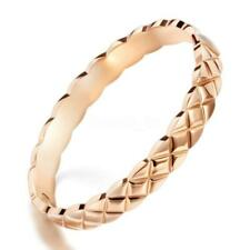 Rose Gold Color Bangle Women Hollow Stainless Steel Wristband Bracelet Jewelry
