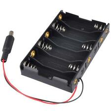 6x1.5V AA 2A CELL Battery Batteries Holder Storage Box 9V Case With Lead Wire
