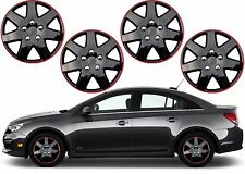 "4 Pack 15"" Inch Ice Black Hub Caps Wheel Covers Custom Mod New Free Shipping USA"