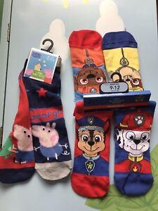 Paw Patrol / Pepa Pig Socks 9-12