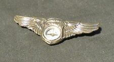 Vintage Occupied Japan Space Pilot Wings W/Compass Metal Badge Pin
