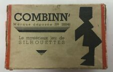 """Vintage Combinn"""" French Silhouettes Wood Puzzle In Box"""