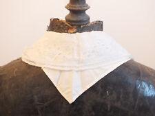 + Ancien col ou tour de cou - tissu blanc et dentelle brodée - 1900 +