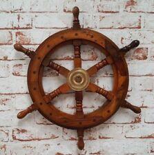 Steuerrad Antik 30cm Schiffsrad Schiffsteuerrad Schiff Piraten Boot Holz Deko