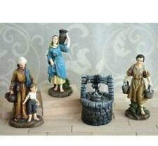 Christmas Nativity Set Villagers 4pc People Well Water Jugs 5 inch scale NS1015
