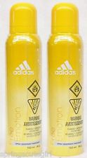 2 Adidas FREE EMOTION Body Spray Deodorant For Women