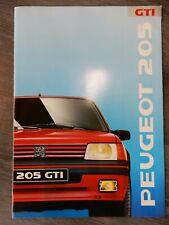 CATALOGUE DÉPLIANT BROCHURE PROSPEKT PEUGEOT 205 GTI DE 1989