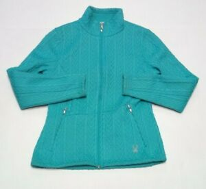 Womens Spyder Core Sweater Medium Full Zip Jacket Fleece Lined