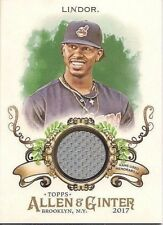 FRANCISCO LINDOR 2017 TOPPS ALLEN & GINTER GAME USED JERSEY