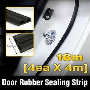 Car Door Auto Noise Rubber Seal Strip 4ea Double Sealing B type For All Vehicle