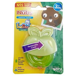 Nuby IcyBite Fruit Shaped Teether Apple 3ms+