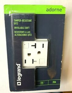 Legrand Adorne GFCI White 20A Tamper Resistant Outlet AGFTR2202W4 Receptacle New