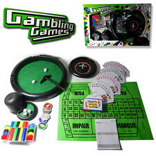 4-1 PROFESSIONAL POKER CHIP CARD GAMES ROULETTE BLACK JACK CASINO PLAY SET TOY