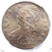 1807 Capped Bust Half Dollar 50C Coin 50/20 - Certified PCGS XF Details (EF)!