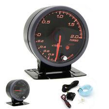 "Aluminum+Acrylic Car Boost Gauge 2.5"" 60mm LED Turbo Boost Meter Gauge W/Sensor&"