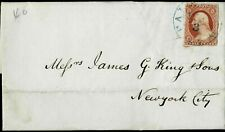 Scott #11A On Fl Cover (Dtd Dec 2 1852) Tied To Blue Fairfield Ma Cds (Ha23)