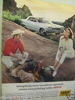 "1964 Chevrolet Impala Hertz Original Print Ad- 8.5 x 11"""