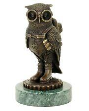 549 ★ Bronze Figur Eule owl mit antiker Patina
