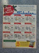VINTAGE 1965 SCHWINN STINGRAY SUPER DELUXE STINGRAY CHRISTMAS ADVERTISEMENT