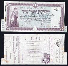 500 lire Buono Postale Fruttifero 1938 Periodo Fascista