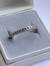 Vintage/Antique Sterling Silver & Marcasite Full Eternity Ring.