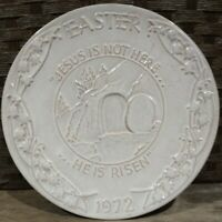 Vintage 1972 FRANKOMA POTTERY Oral Roberts JESUS EASTER Plate WALL PLAQUE Tulsa