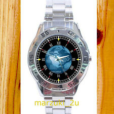 NEW RARE Computer Globe Binary CUSTOM CASUAL CHROME MEN'S WATCH WRISTWATCHES