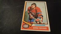 1974-75 Topps Hockey #53 Serge Savard - Montreal Canadiens -  Hall of Fame  - VG