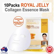10x DERMAL Royal Jelly Collagen Essence Facial Face Mask Sheet Skin Pack Korea