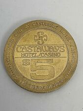 RARE Collectable and Obsolete $5 Las Vegas Castaways Slot Token