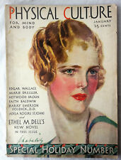 Jan 1931 Physical Culture Magazine Woman Fashion Cover Special Holiday Issue
