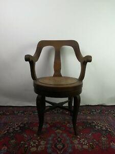Holz Friseurstuhl Barber Chair Herren Stuhl antik, drehbar Friseursessel