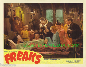 FREAKS MOVIE POSTER PRINT-SCIFI,HORROR,SIDESHOWS,CIRCUS-famous monsters-monster