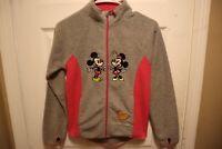 Disney Parks Mickey and Minnie Mouse Full Zip Fleece Jacket for Girls SZ Medium