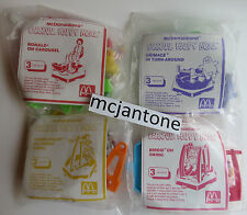 MIP SET 4 McDonald's 1990 CARNIVAL Grimace Ronald Birdie COMPLETE Toys REGIONAL