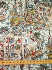 SKELEWAGS PIRATE SKELETONS BY ALEXANDER HENRY COTTON FABRIC CLOTHING DECOR BTY
