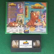 FUORI A CENA CON TIMON E PUMBAA - VHS Walt DISNEY (ITA 1997) VS 4686