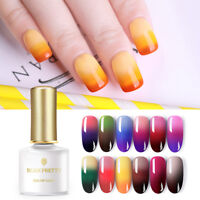 BORN PRETTY Color Changing Thermal UV Gel Polish 3-layers Soak Off Nail Art 6ml