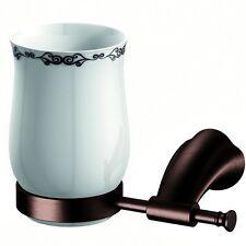 Lux-aqua Antik Becherhalter Zahnbürstenbecher Messing gebürstet D49050QB