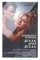 JULIA AND JULIA MOVIE POSTER Original 27x41 Rolled 1987 KATHLEEN TURNER STING