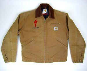 Vintage 90s SPECIALIZED S-WORKS Carhartt Tan Canvas Blanket Lined Jacket- Medium