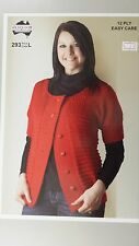 Heirloom Knitting Pattern #293 Ladies Short Sleeved Cardigan to Knit in 12 Ply