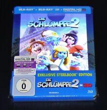 DIE SCHLÜMPFE 2   3D BLU RAY + BLU RAY STEELBOOK EDITION NEU & OVP