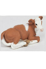 Papo Lying Simmental Calf Barn Animal Toy Figure Pretend Play 51143 NEW